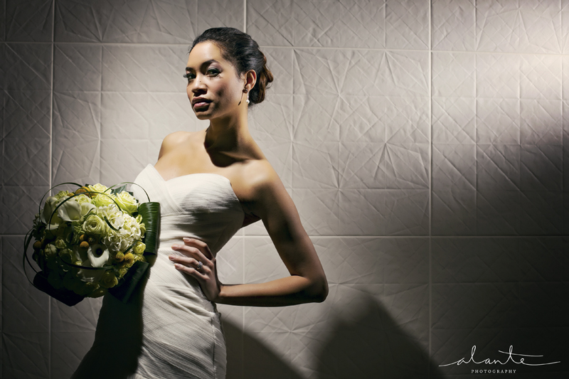 Pretty Bride with Lighting at Columbia Tower Club