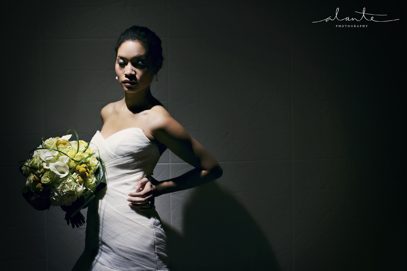 Bride in Modern Trousseau at Columbia Tower Club