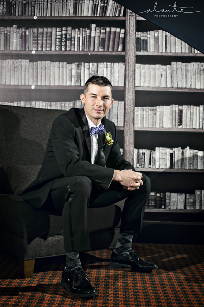 Groom in Columbia Tower Club Library