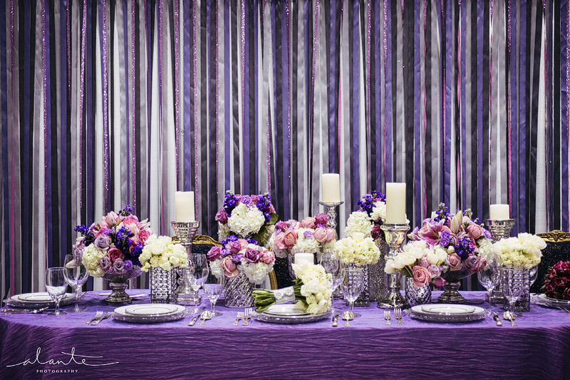 The Bridal Notebook: Purple Wedding Reception