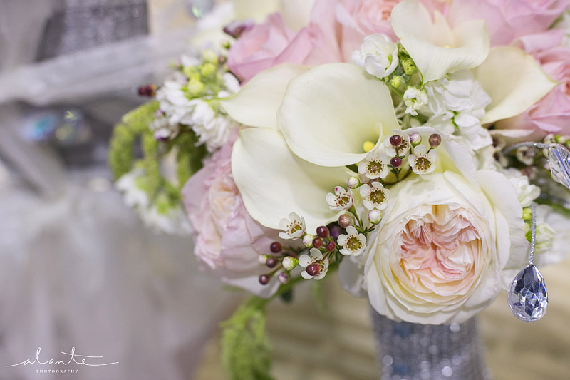 Pink and white pastel wedding bouquet from Laurel's Floral Decor