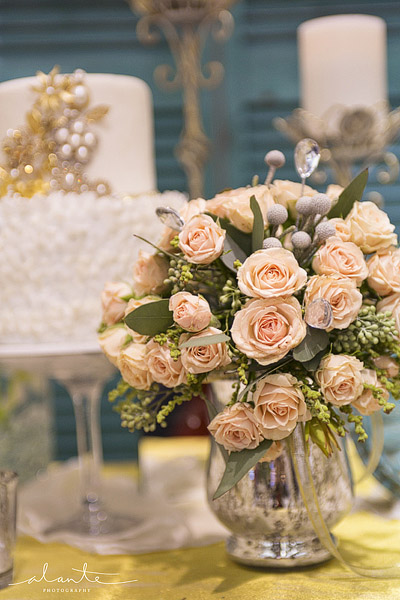 Peach bridal bouquet from Laurel's Floral Decor