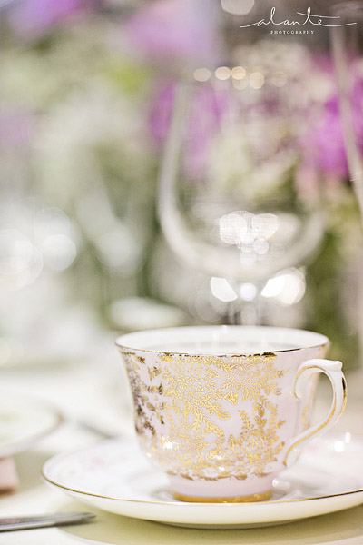 Ornate teacup for a vintage wedding