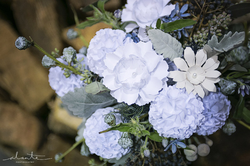 Pretty paper wedding flower bouquet