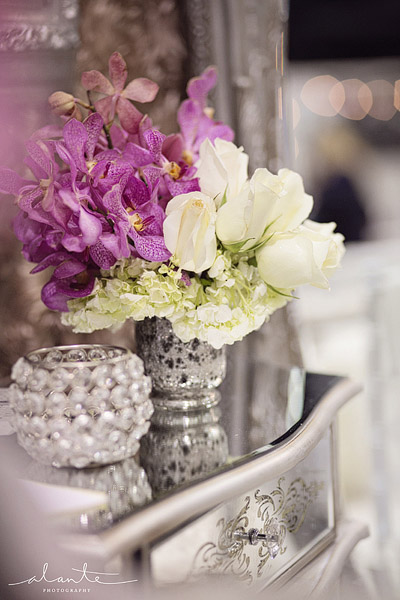 Glam and luxe wedding flowers from SAL floral design